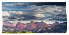 Gathering Storm Over The Fingers Of Kolob Bath Towel