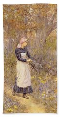 Gathering Wood For Mother Hand Towel