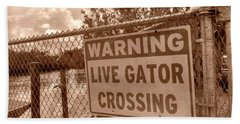 Gator Crossing Hand Towel