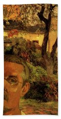 Gauguin Study In Orange Hand Towel
