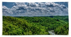 Gauley River Canyon And Clouds Hand Towel