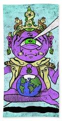 Gautama Buddha Colour Illustration Hand Towel