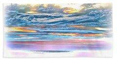 Bath Towel featuring the photograph Gauzy Sunset by Walt Foegelle