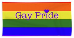 Gay Pride Love Bath Towel