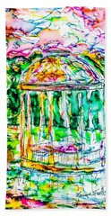 Gazebo Sunset Hand Towel