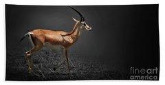 Gazelle Hand Towel by Charuhas Images