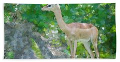 Bath Towel featuring the painting Gazelle Impressions by Judy Kay