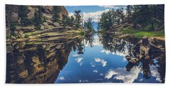 Gem Lake Reflections Hand Towel