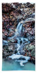 Hand Towel featuring the photograph Gemstone Falls by Az Jackson