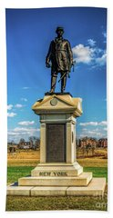 Bath Towel featuring the photograph General Abner Doubleday - Gettysburg National Park by Nick Zelinsky
