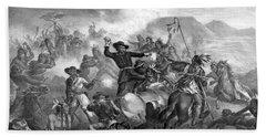 General Custer's Death Struggle  Bath Towel