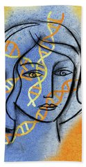 Hand Towel featuring the painting Genetics by Leon Zernitsky