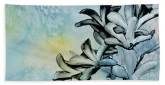 Gentle Blooms Bath Towel by Manjot Singh Sachdeva