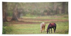 Hand Towel featuring the photograph Gently Grazing by Lewis Mann