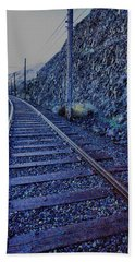 Hand Towel featuring the photograph Gently Winding Tracks by Jeff Swan