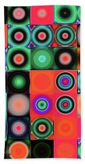 Hand Towel featuring the digital art Geometric Abstract I by Mimulux patricia no No