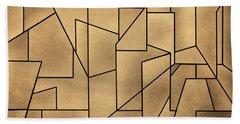 Geometric Abstraction IIi Toned Bath Towel