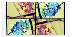 Geometric Blossoms Bath Towel