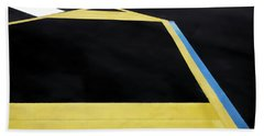 Geometric Combination Of Traffic Lines Bath Towel