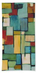 Geometric Line Series Re Master Bath Towel by Patricia Cleasby