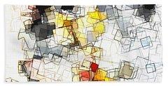 Geometric Minimalist And Abstract Art Bath Towel by Ayse Deniz