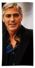 George Clooney Painting Bath Towel