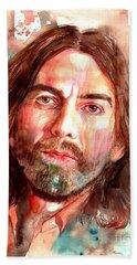 George Harrison Portrait Hand Towel