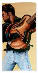 George Michael Painting Hand Towel by Paul Meijering