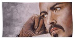 George Michael Hand Towel by Patrice Torrillo