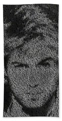 George Michael Song List Mosaic Bath Towel