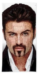 George Michael Tribute Bath Towel