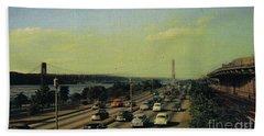 Hand Towel featuring the photograph George Washington Bridge  by Cole Thompson