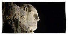 George Washington Profile At Night Bath Towel by David Lawson