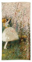 Georges Picard French 1857 1946 Romance Under The Blossom Tree Hand Towel