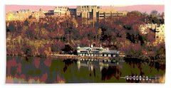 Georgetown University Crew Team Hand Towel by Charles Shoup