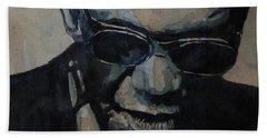 Georgia On My Mind - Ray Charles  Hand Towel