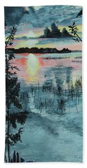 Georgian Bay Sunset Bath Towel