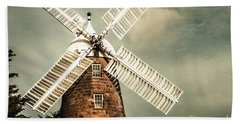 Bath Towel featuring the photograph Georgian Stone Windmill  by Jorgo Photography - Wall Art Gallery