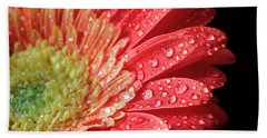 Gerbera Daisy Macro Bath Towel by Angela Murdock
