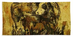 German Fleckvieh Bull 21 Bath Towel by Larry Campbell