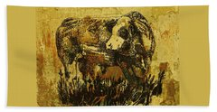 German Fleckvieh Bull 21 Bath Towel