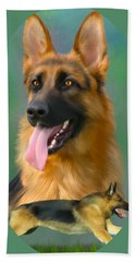 German Shepherd Breed Art Hand Towel