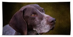 German Shorthaired Pointer Hand Towel