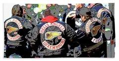 Germany Trial Hell Angels Motorcycle Club Hand Towel