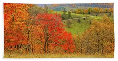 Germany Valley Dressed In Autumn Bath Towel