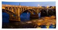 Gervais Street Bridge At Twilight Bath Towel