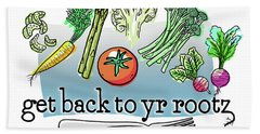 Get Back To Yr Rootz Hand Towel