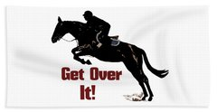 Get Over It Horse Jumper Hand Towel by Patricia Barmatz