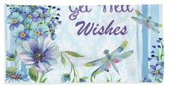 Get Well Wishes Greeting Card Hand Towel