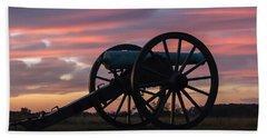 Gettysburg - Cannon On Cemetery Ridge At First Light Bath Towel